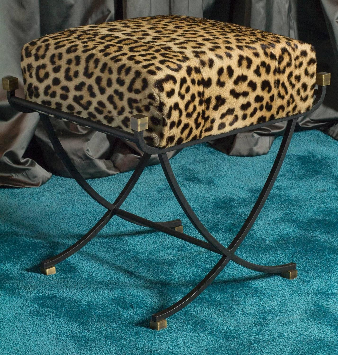 1960s Pair Of Leopard Stools At 1stdibs