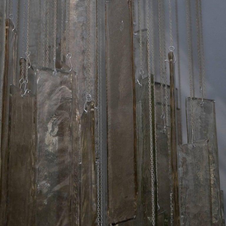 1970s Mazzega Murano Glass Pendants Chandelier At 1stdibs