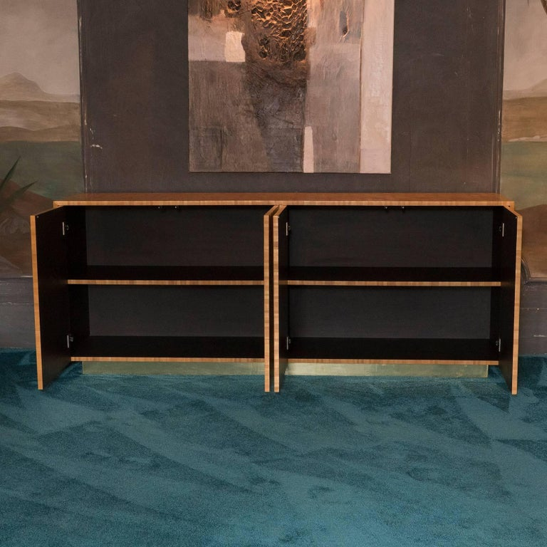 Flair Edition Gold Straw Marquetry Sideboard 2