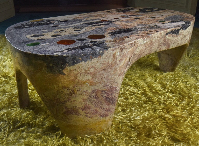 Paul Becker, 1960s Coffee Table In Good Condition For Sale In Firenze, IT