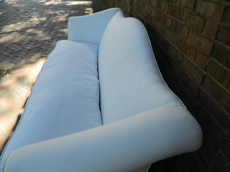 Chippendale Style Camelback Upholstered Sofa, Late 19th Century For Sale 1