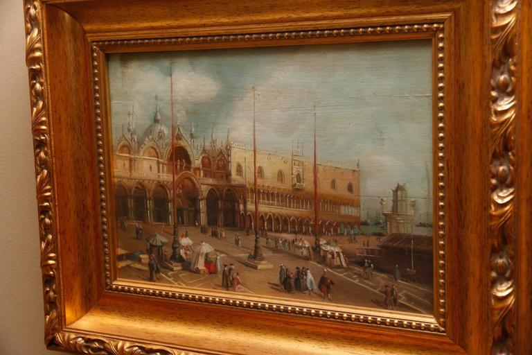 Oil on Board Depicting the Doge's Palace, Early 20th Century For Sale 1
