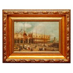 Oil on Board Depicting the Doge's Palace, Early 20th Century