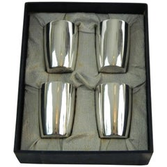Set of Four Tiffany & Co. Sterling Silver Shot Glasses, Early 20th Century