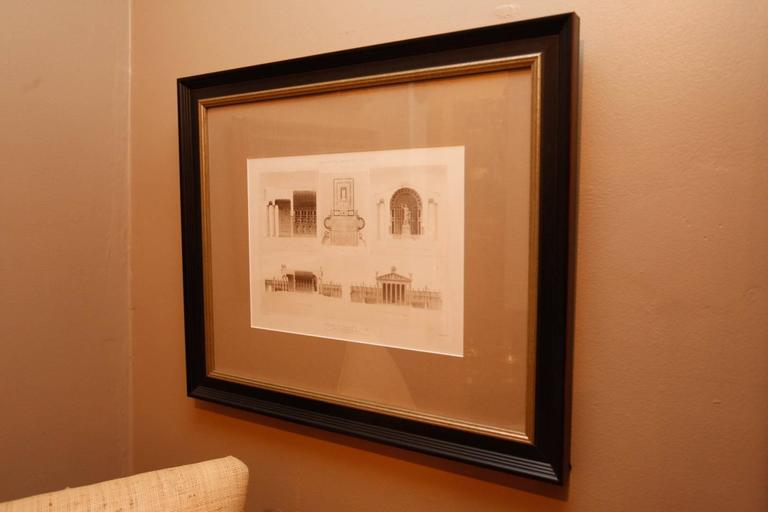 Framed Set of Four 19th Century, English Architectural Engravings, 19th Century 3