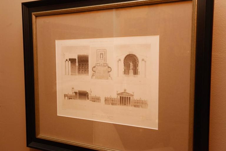 Framed Set of Four 19th Century, English Architectural Engravings, 19th Century 2