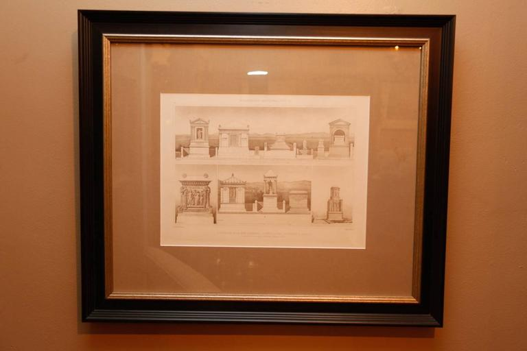 Framed Set of Four 19th Century, English Architectural Engravings, 19th Century 4