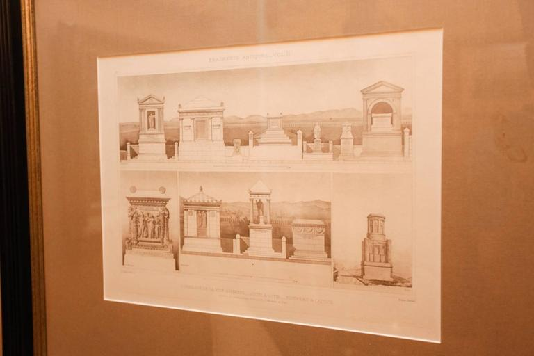 Framed Set of Four 19th Century, English Architectural Engravings, 19th Century 6