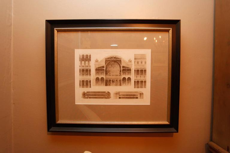 Framed Set of Four 19th Century, English Architectural Engravings, 19th Century 8