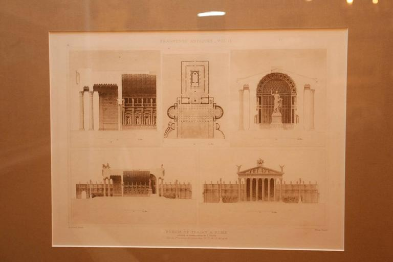 Framed Set of Four 19th Century, English Architectural Engravings, 19th Century 7