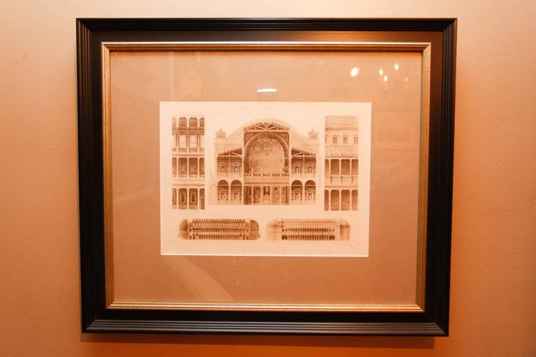 Framed Set of Four 19th Century, English Architectural Engravings, 19th Century 10