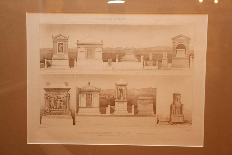 Framed Set of Four 19th Century, English Architectural Engravings, 19th Century 9