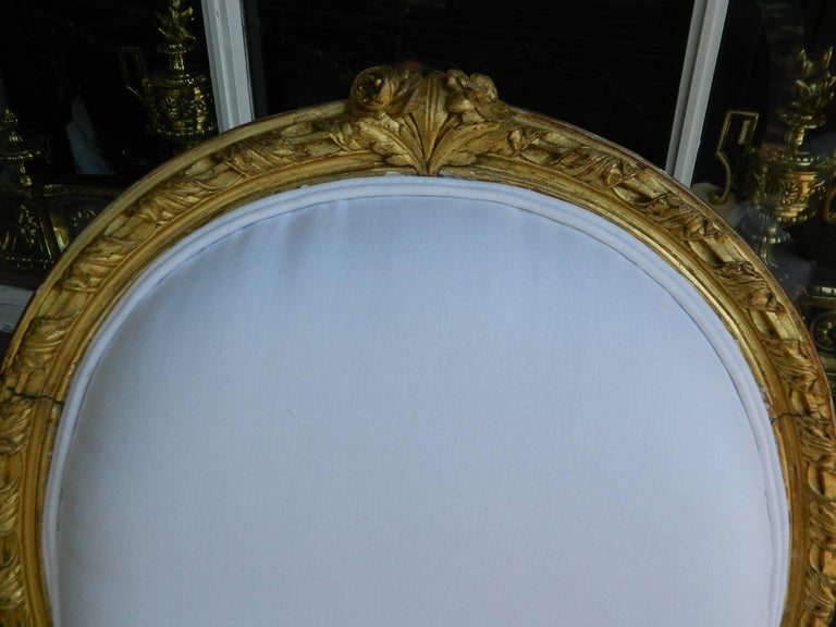 Pair of Louis XVI Style Giltwood Armchairs, 19th Century For Sale 2