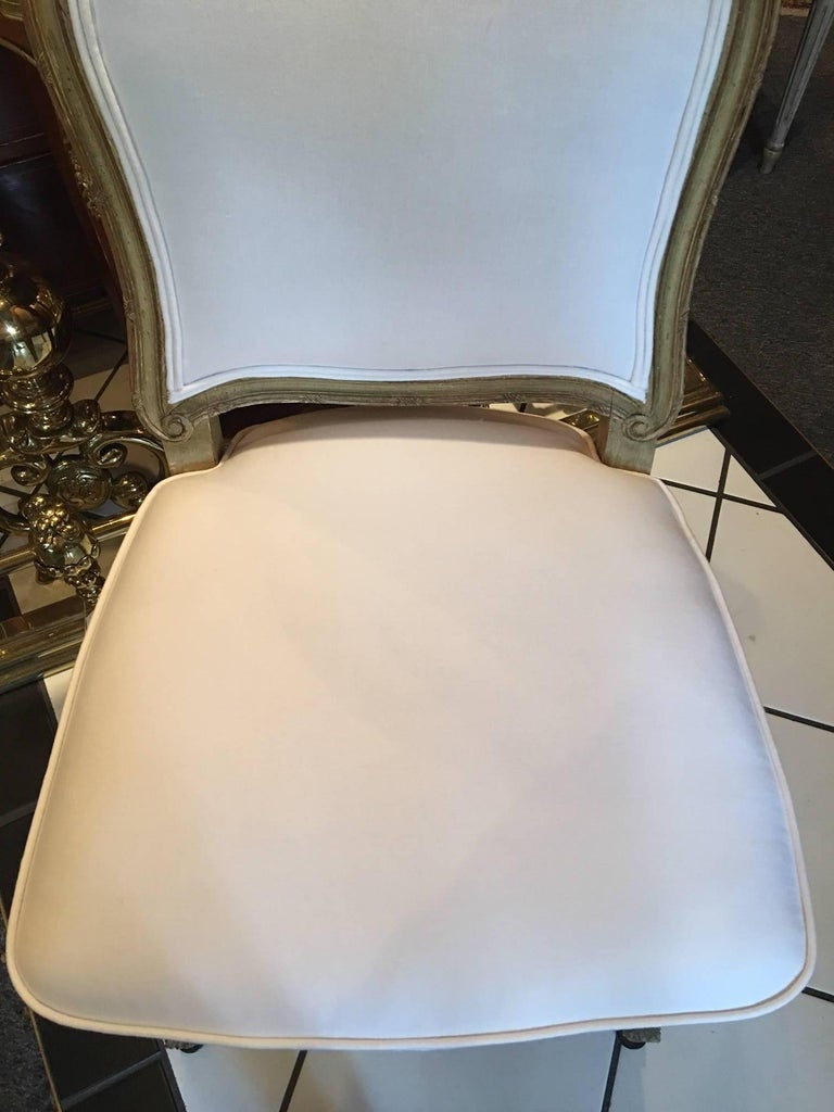 Set of Four Painted Louis XVI Style Dining Chairs, Mid-20th Century For Sale 1