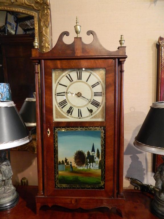 Norris North Pillar And Scroll Shelf Clock Torrington