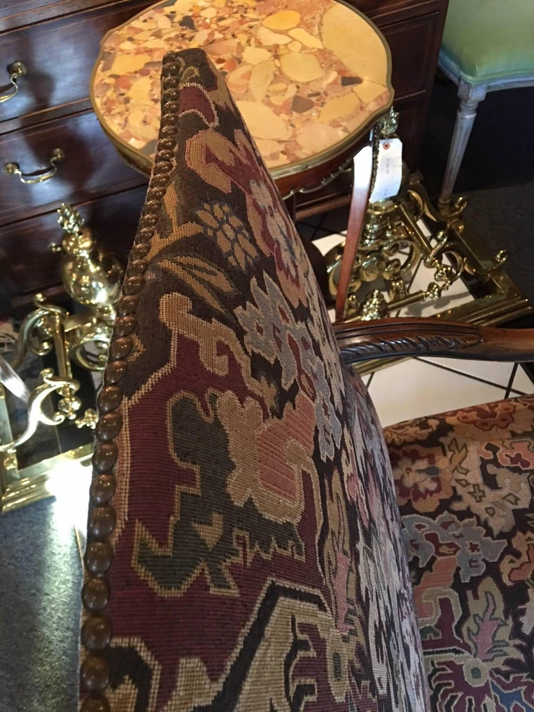 Pair of Carved Flemish Armchairs, 19th Century For Sale 3