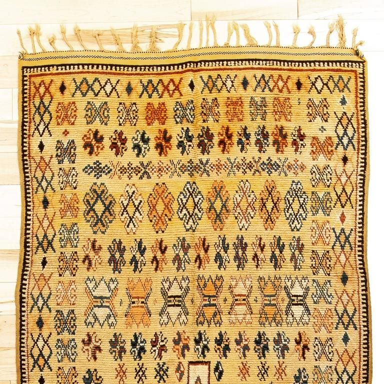 Early 20th Century High Atlas Moroccan Rug For Sale At 1stdibs
