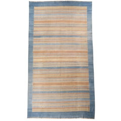 Mid-20th Century Striped Indian Dhurrie