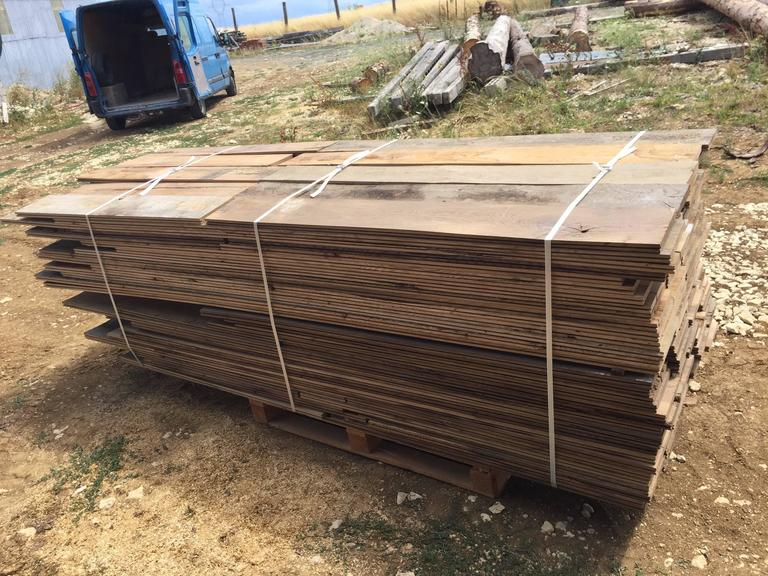 Exceptional, rare and very unique. 7,000 square foot of original French antique wood oak floorings. Ready for installation. Available right now from our Los Angeles warehouse. Price is per square foot. More info's on demand.