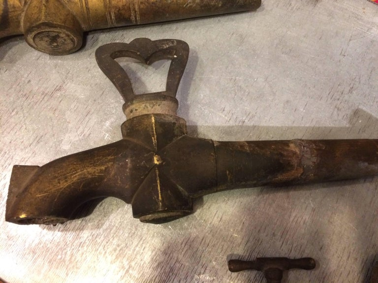 Hand-Crafted Original French Antique Solid Bronze Spout 1800s France For Sale