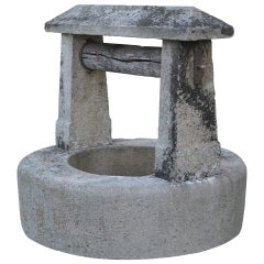 Chateau Wishing-Well in Limestone from France Late 18th Century