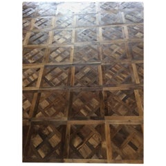 French Parquet de Versailles Solid Antique Oak Handmade French Tradition, France
