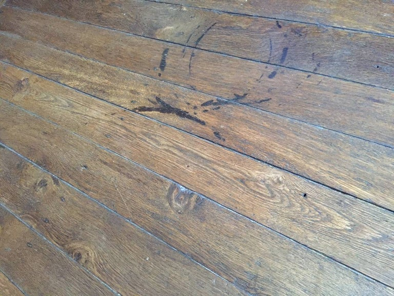 Hand-Crafted French Antique Flooring Wood Oak, Original Floor, 18th Century For Sale