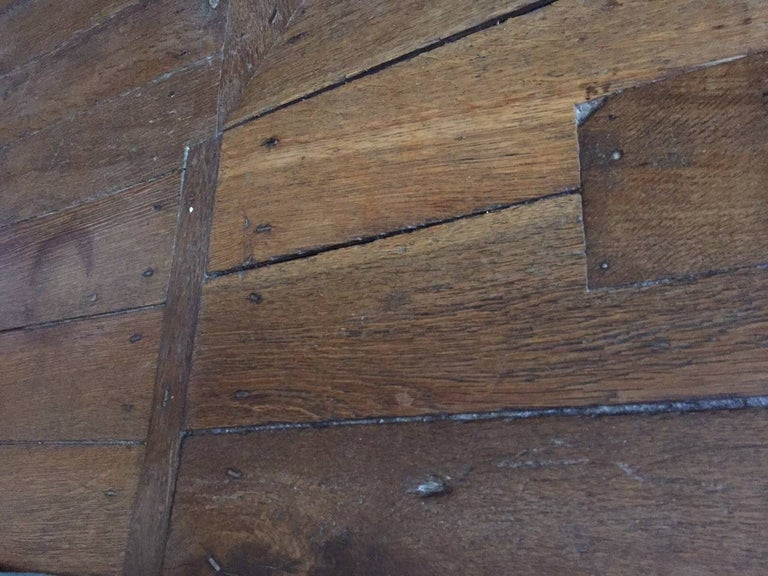 18th Century and Earlier French Antique Flooring Wood Oak, Original Floor, 18th Century For Sale