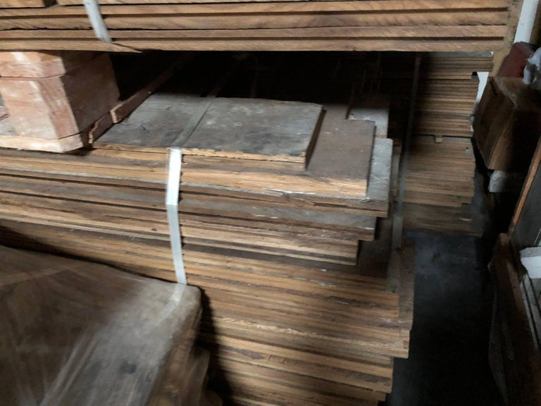 French Antique Solid Wood Oak Flooring, 17th-18th Century, France In Good Condition For Sale In LOS ANGELES, CA