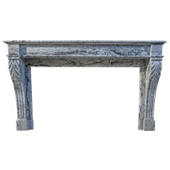 French Antique Marble Fireplace 19th Century from Paris, France