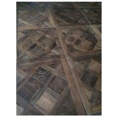 French Antique solid Wood Oak Flooring Versailles style, Paris, France
