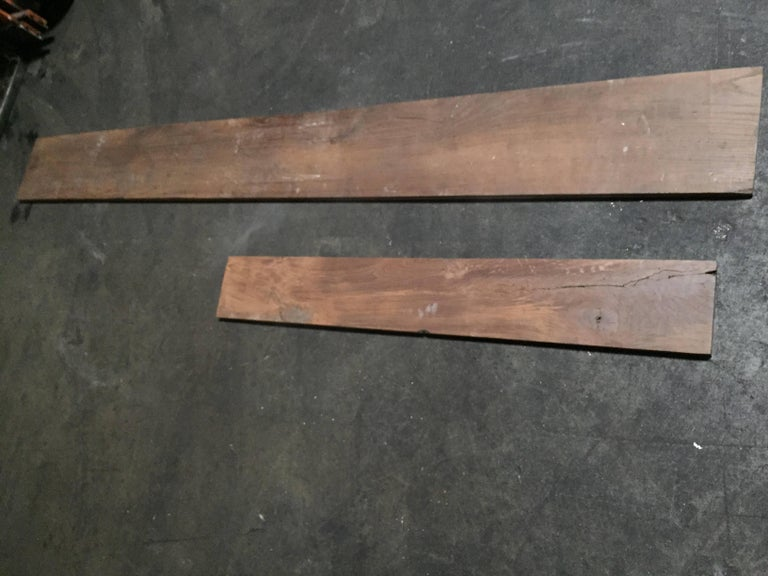 Original and authentic French antique solid wood oak floor from France, 17th-18th century.  Very long length and very wild, different dimensions, random. Great condition, each plank has been handled eight minimum to make it clean and ready for