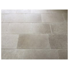 Parisian Style Flooring in Pure and Solid Limestone, Handcrafted