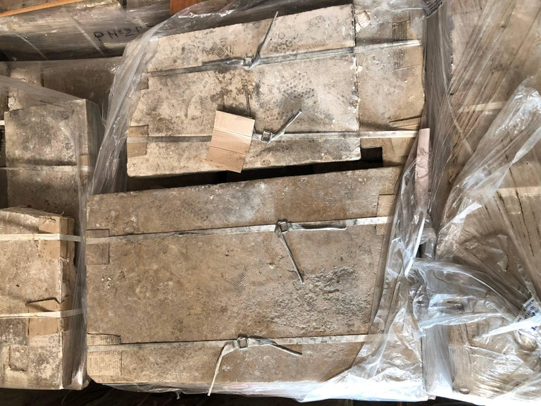 French Antique Limestone Flooring, 17th Century, France For Sale 3