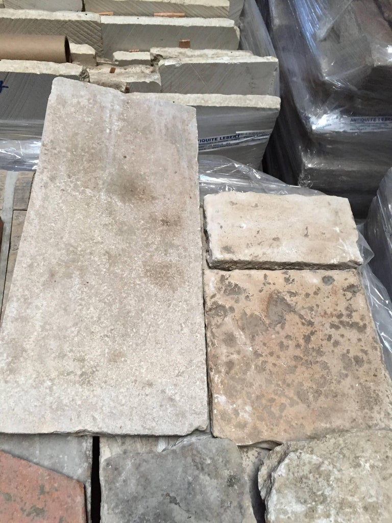 Original and authentic French antique building materials flooring and architectural antiquities 17th century from France.