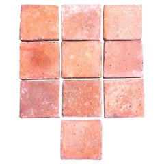 Original French Antique Square Terracotta Flooring, 18th-19th Century