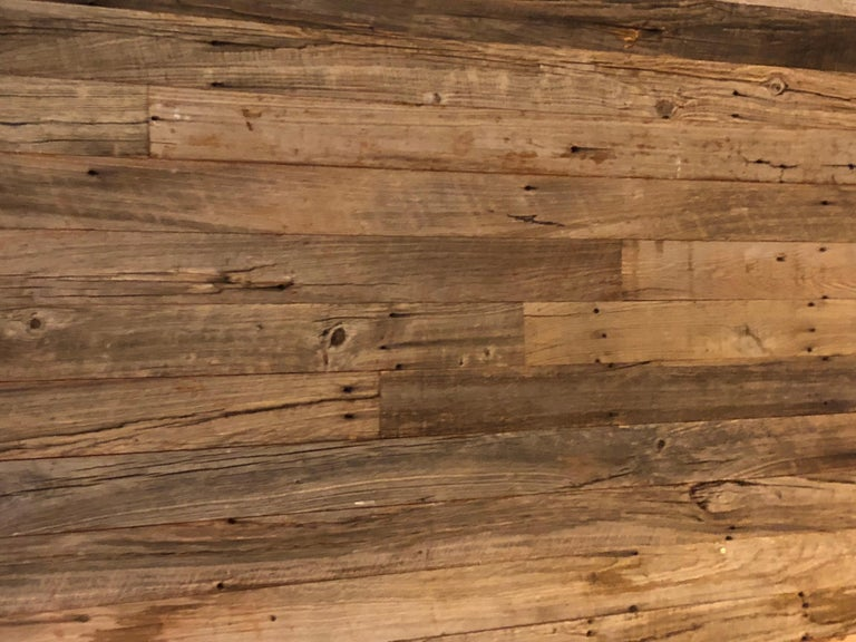 Hand-Carved Reclaimed Antique Solid Wood Oak Flooring 18th-19th Century, France For Sale