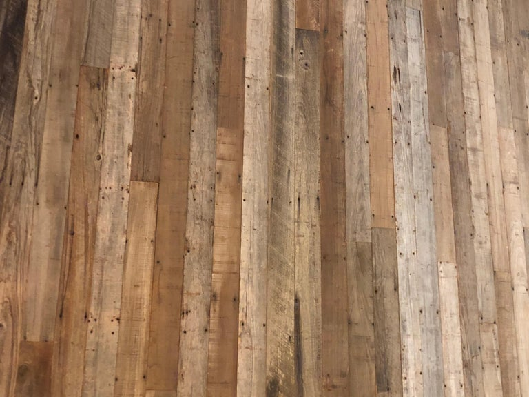 Reclaimed Antique Solid Wood Oak Flooring 18th-19th Century, France For Sale 2