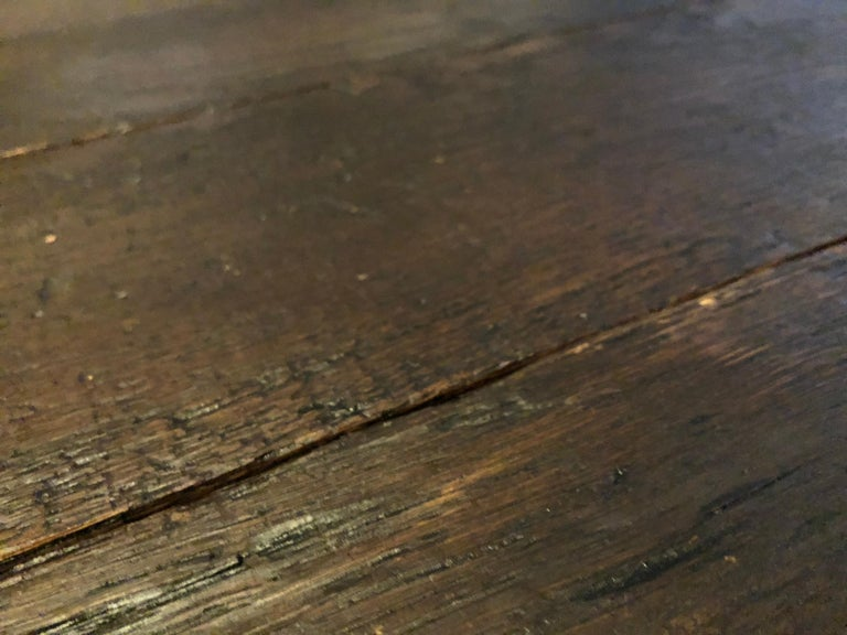 Hand-Crafted Original French Antique Solid Wood Oak Floors 18th Century, France For Sale