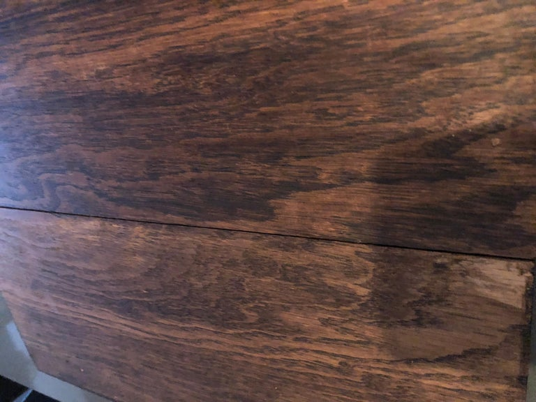 Original French Antique Solid Wood Oak Floors 18th Century, France In Fair Condition For Sale In LOS ANGELES, CA