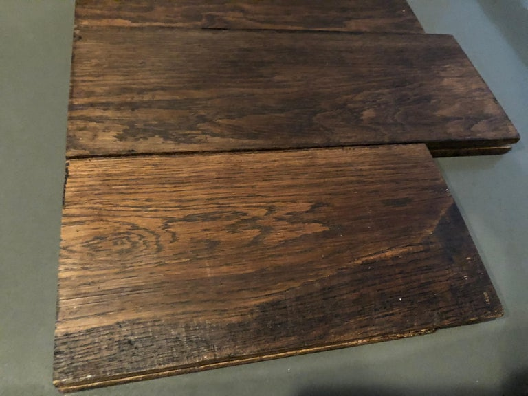 Original French Antique Solid Wood Oak Floors 18th Century, France For Sale 7