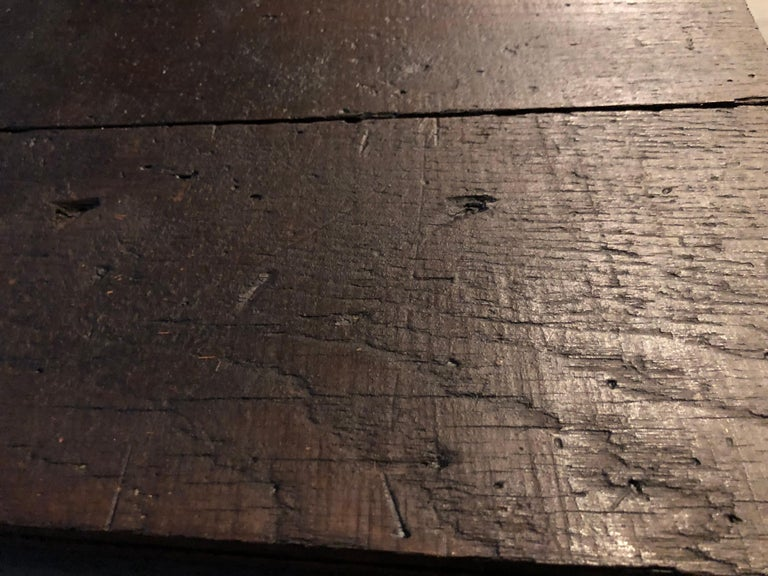 Original French Antique Solid Wood Oak Floors 18th Century, France For Sale 13
