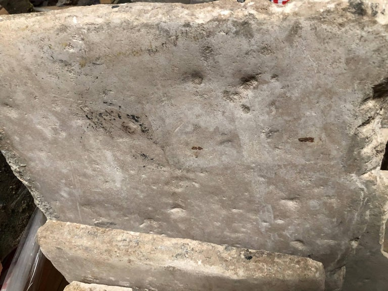 Opus Roman Solid Antique Limestone Flooring, 17th Century In Good Condition For Sale In LOS ANGELES, CA