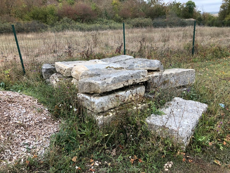 18th Century and Earlier Authentic French Antique Solid Limestone, 17th Century, France For Sale