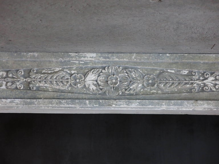 Normandy French Limestone Fireplace, Louis XVI Period, 18th Century, France For Sale 1