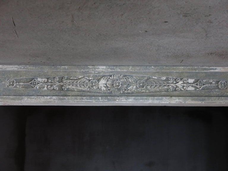 Normandy French Limestone Fireplace, Louis XVI Period, 18th Century, France For Sale 5