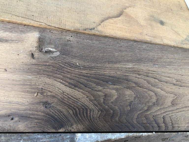 Original French Antique Solid Wood Oak Flooring, 18th Century, France For Sale 4