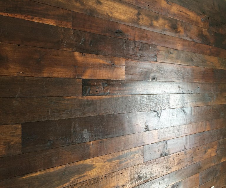French Antique Solid Wood Oak Herringbone Pattern, 18th Century, France For Sale 4