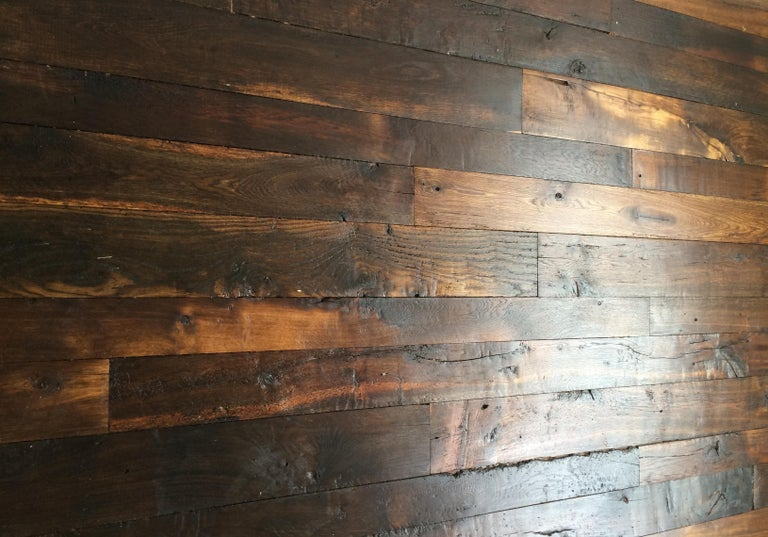 French Antique Solid Wood Oak Herringbone Pattern, 18th Century, France For Sale 6
