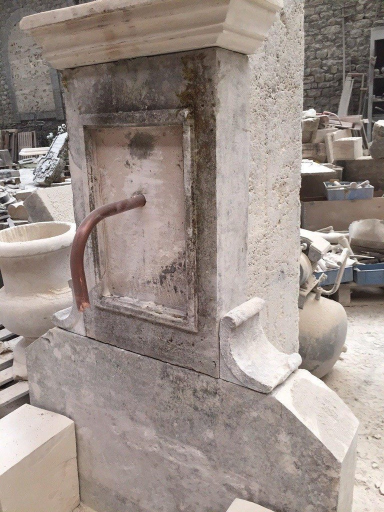 Hand-Crafted French Limestone Fountain, 20th Century, France For Sale